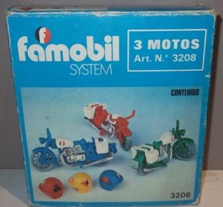 Playmobil 3208-fam - 3 Motorbikes - Box