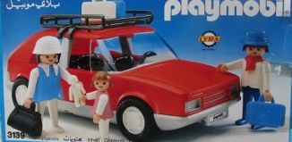 Playmobil - 3139v2-lyr - Red Family Car