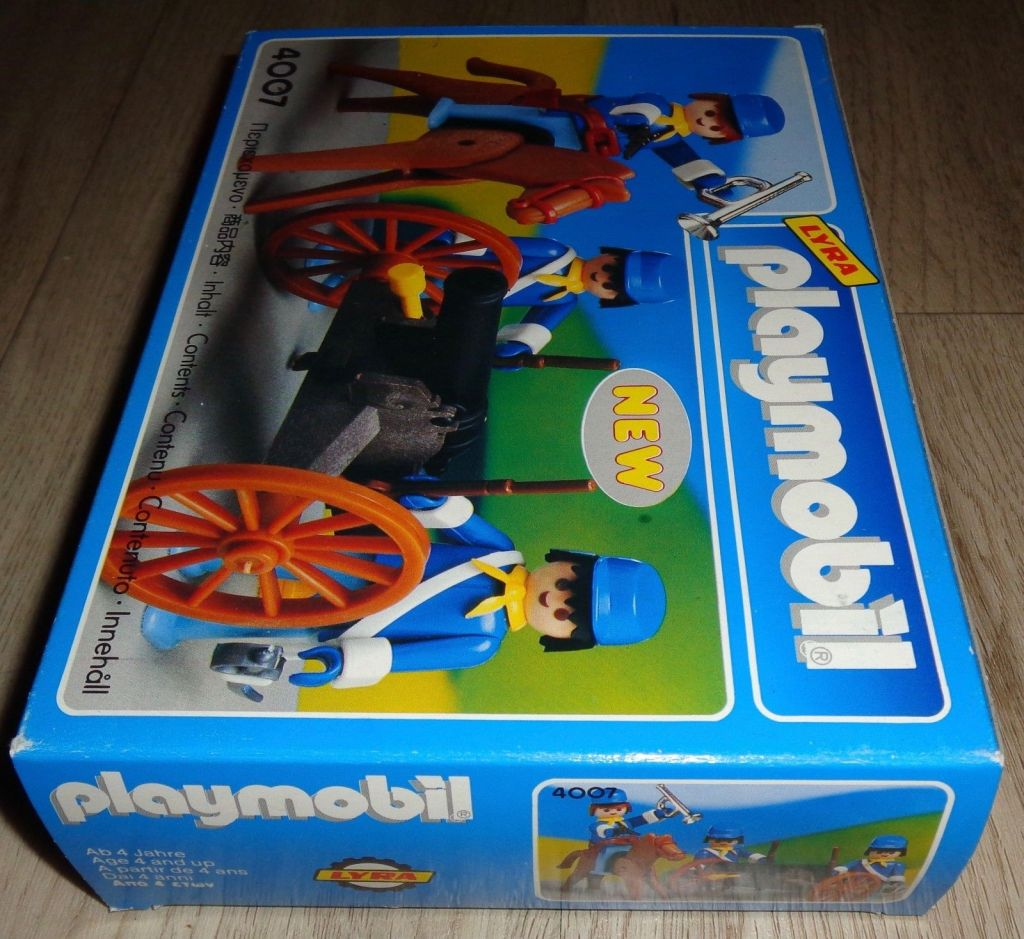 Playmobil 4007-lyr - US artillery - Box