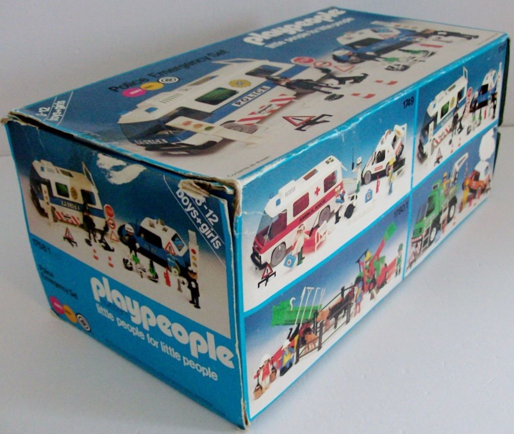 Playmobil 1758/1-pla - Police Emergency Set - Box