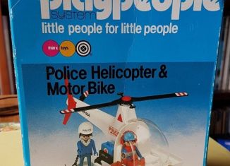 Playmobil - 1765v2-pla - Police Helicopter and Motorbike