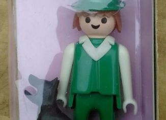 Playmobil - 1784s1-pla - Farmer & black dog