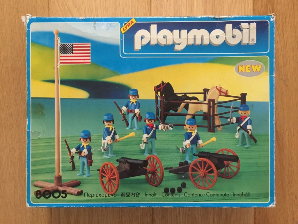 Playmobil 8005-lyr - artillery western - Box