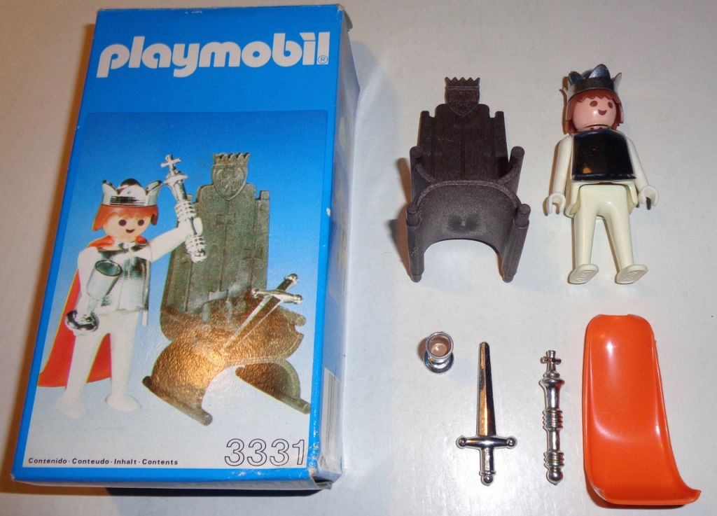 Playmobil 3331-esp - king and trone - Back