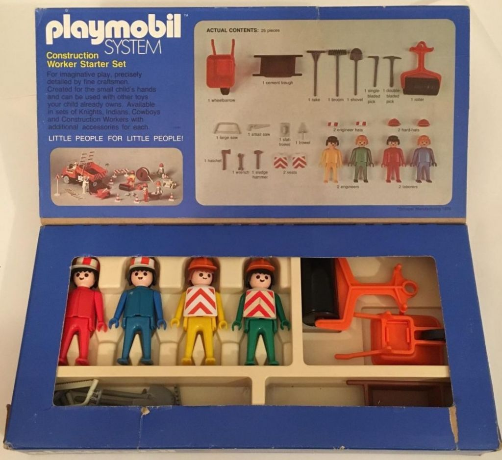 Playmobil 016-sch - Construction Workers Starter Set - Back