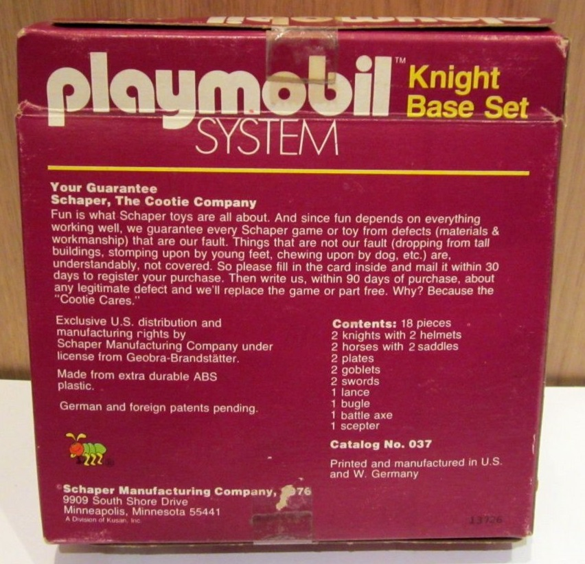 Playmobil 037-sch - Knight Base Set - Box