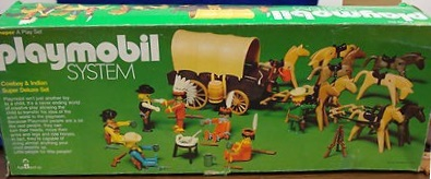 Playmobil 044-sch - Cowboy & Indian Super Deluxe Set - Box