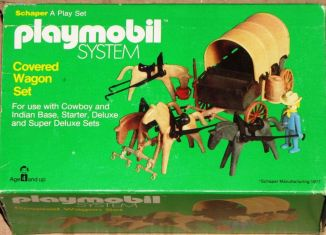 Playmobil - 047-sch - Covered Wagon Set