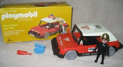 Playmobil 076-sch - Fire Chief Car Set - Back