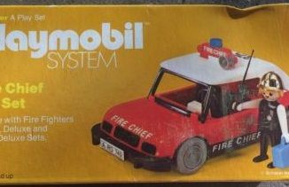 Playmobil - 076-sch - Fire Chief Car Set