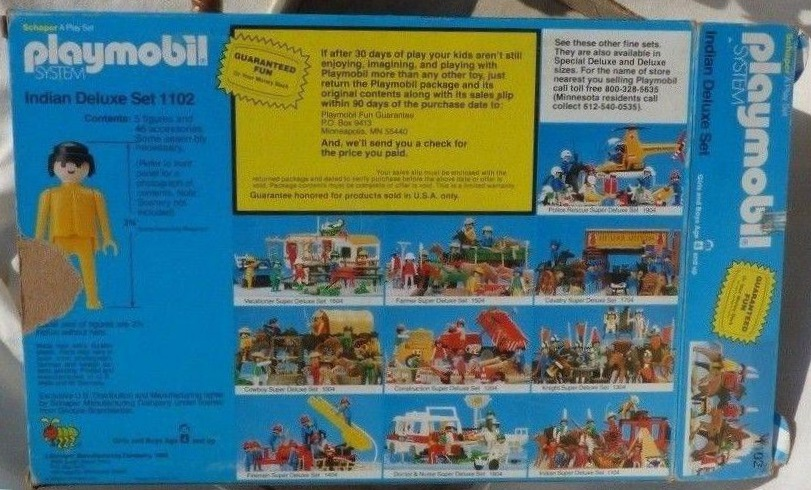 Playmobil 1102v1-sch - Indian Deluxe Set - Box