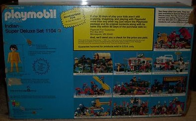 Playmobil 1104v1-sch - Indian Super Deluxe Set - Caja