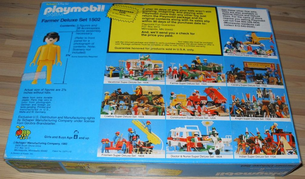 Playmobil 1502-sch - Farmer Deluxe Set - Box
