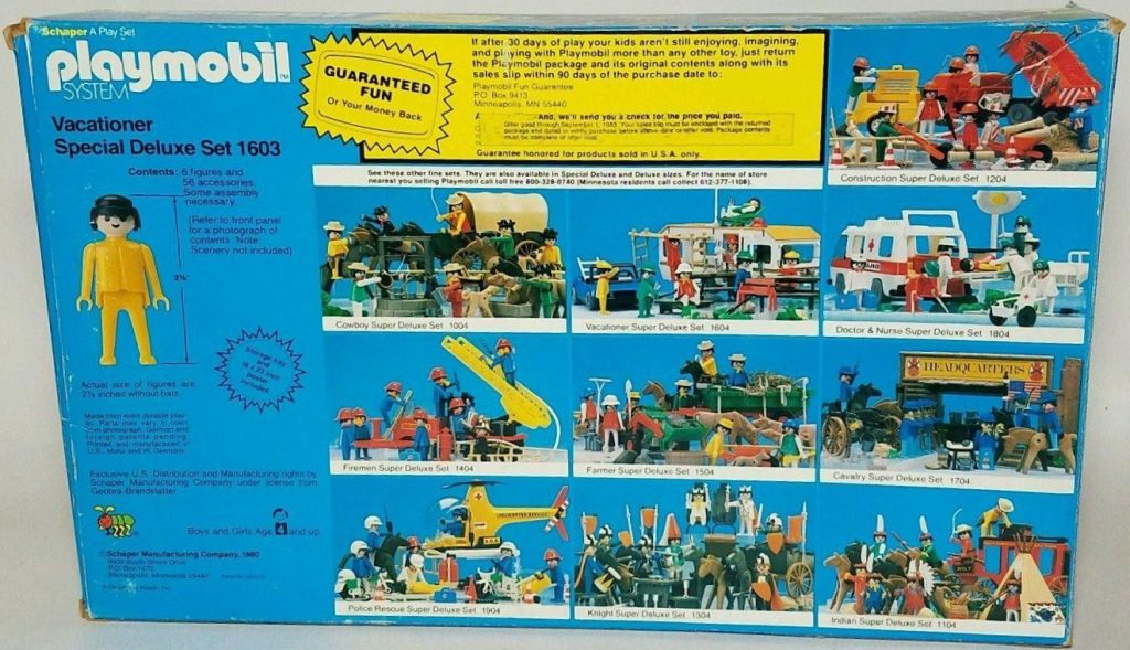 Playmobil 1603-sch - Vacationer Special Deluxe Set - Box