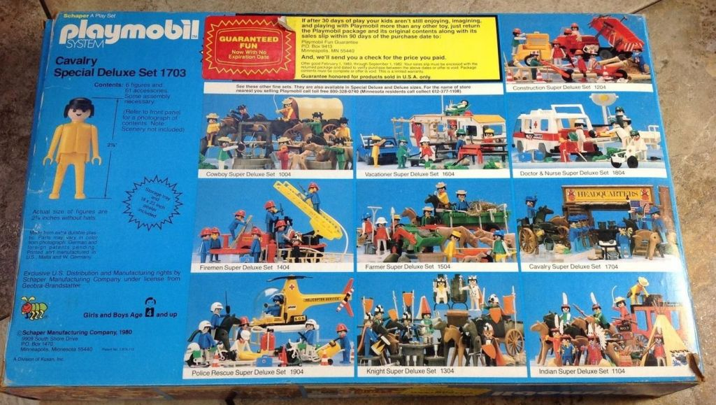 Playmobil 1703-sch - Cavalry Special Deluxe Set - Box