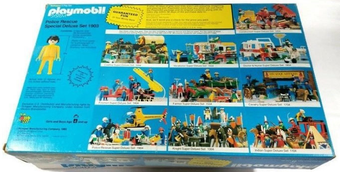 Playmobil 1903-sch - Police Rescue Special Deluxe Set - Box