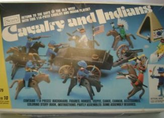 Playmobil - 49-59975-sch - Cavalry and Indian Set