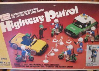 Playmobil - 49-59976v2-sch - Set Patrouille d'autoroute