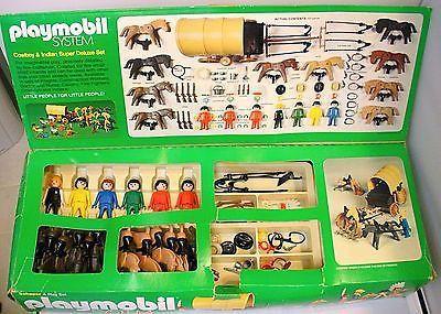 Playmobil 044-sch - Cowboy & Indian Super Deluxe Set - Back