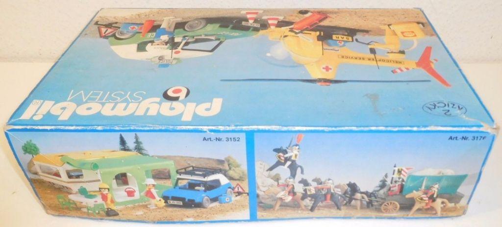 Playmobil 3158s1v1 - Helipcoter service + Police car - Box