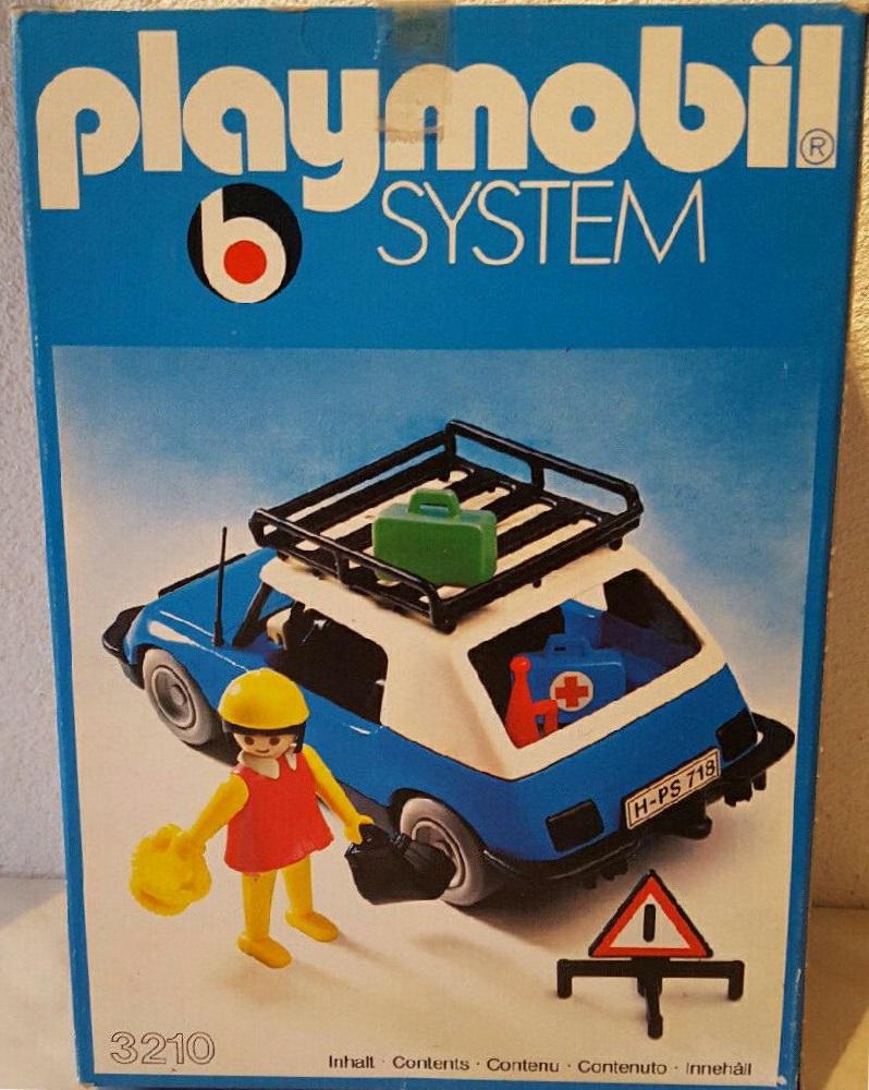 Playmobil 3210s2v3 - Blue Car - Box