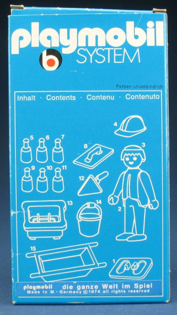 Playmobil 3312v1 - Construction Worker - Box