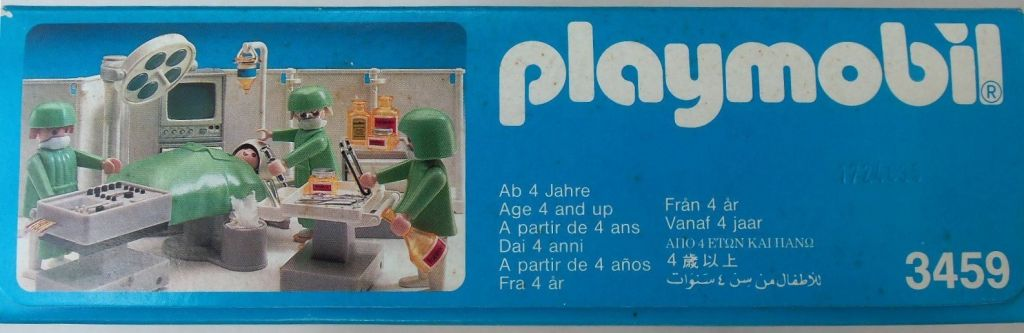 Playmobil 3459v2 - Operating Room - Back