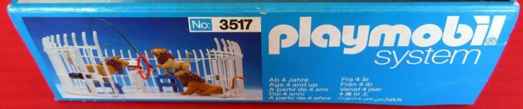 Playmobil 3517s1v3 - Lions, Cage and Trainer - Box
