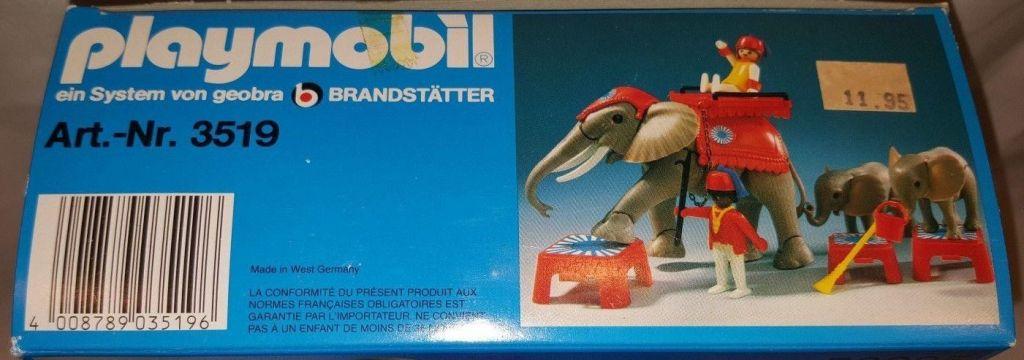 Playmobil 3519 - Circus Elephants & Trainers - Box