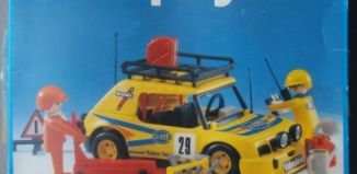 Playmobil - 3524v2 - Yellow Rally Car