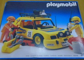 Playmobil - 3524v5 - Yellow Rally Car