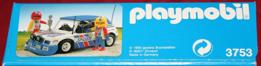 Playmobil 3753 - Blue Rally Car - Box