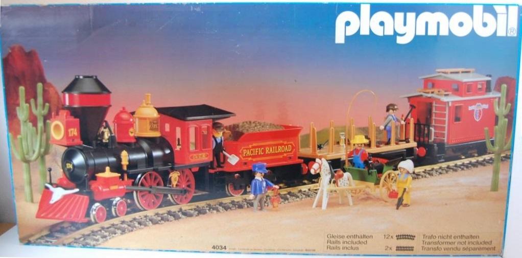 Playmobil 4034v1 - Large Western Train Set - Box