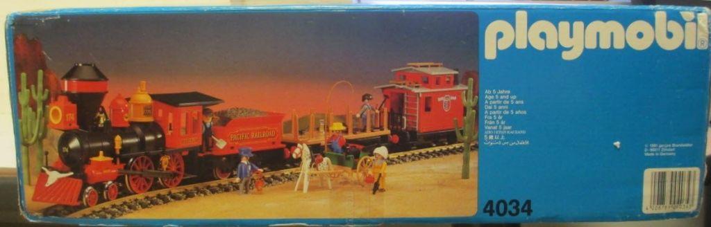 Playmobil 4034v2 - Large Western Train Set - Box