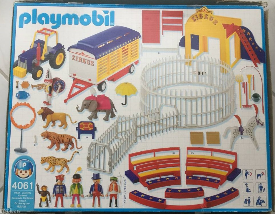 Playmobil 4061-ger - Circus Wild Animal Act - Back