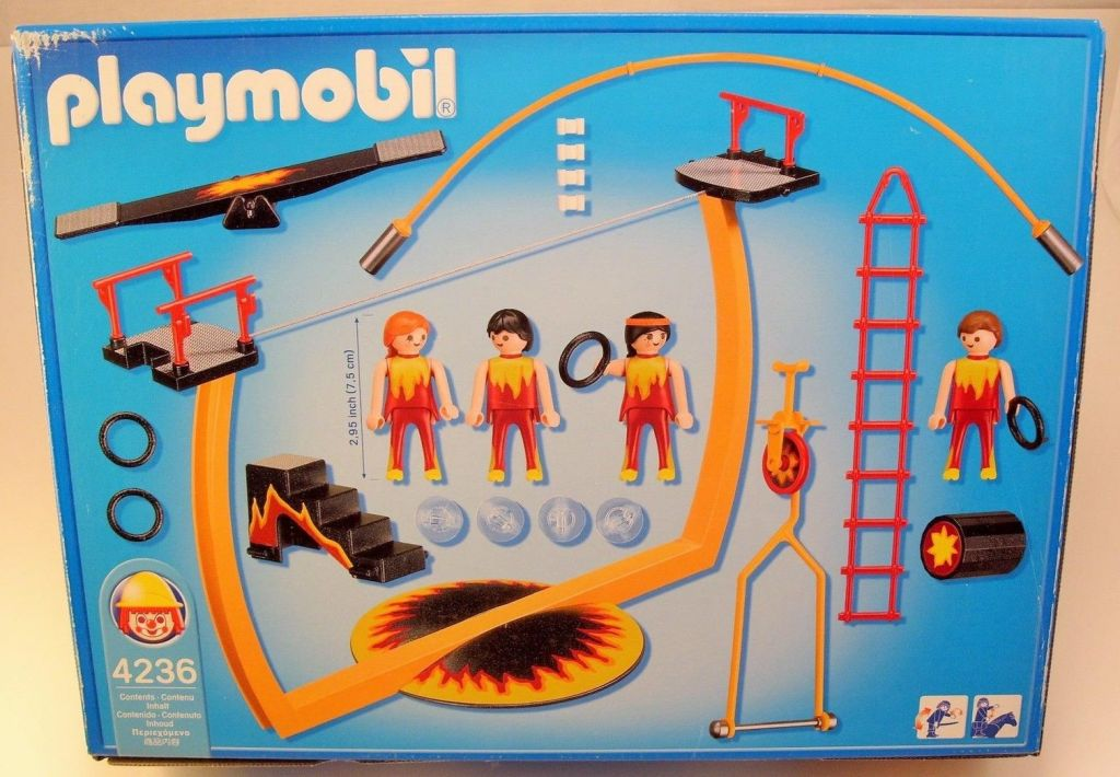 Playmobil 4236 - Tightrope Artists - Back