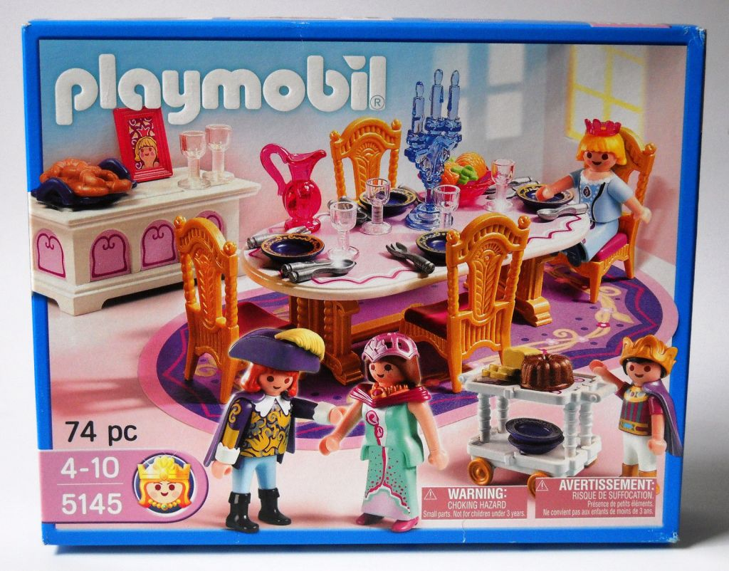 Playmobil set 5145 usa royal banquet room klickypedia for Salle a manger playmobil 5332