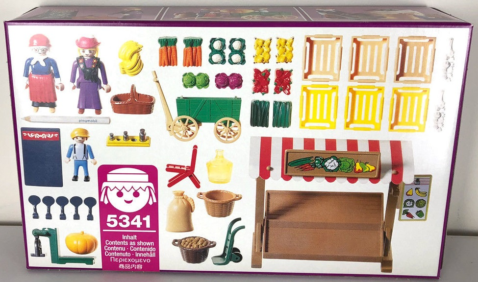 Playmobil 5341 - Produce Stand - Back