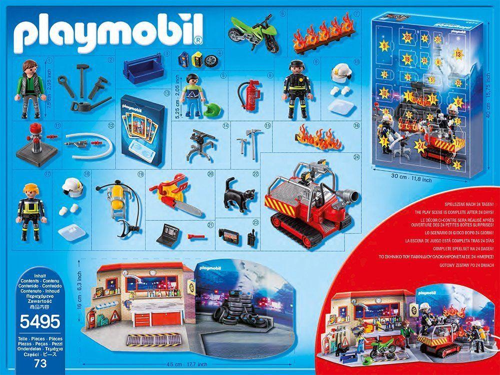 Playmobil 5495 - Advent Calendar firestation with alarm - Back