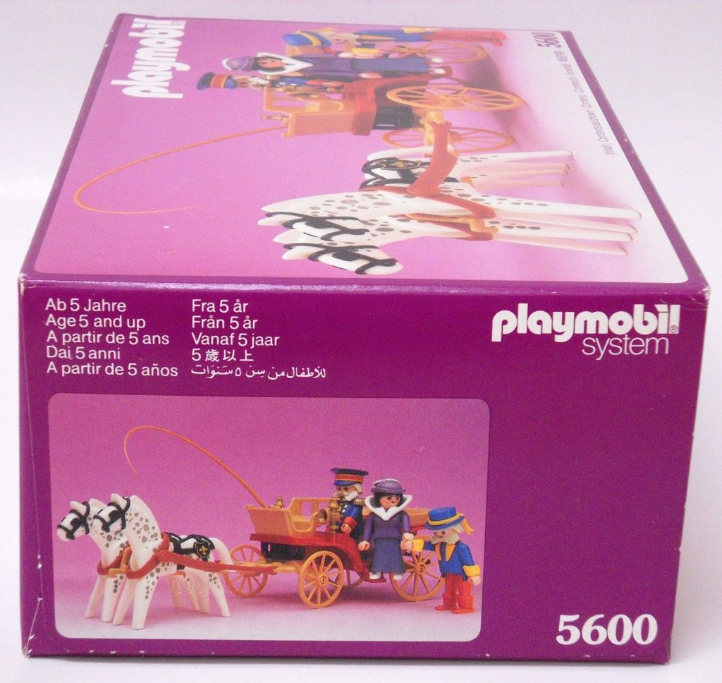 Playmobil 5600 - Horse carriage , Victorian Lady with driver and doorman - Box