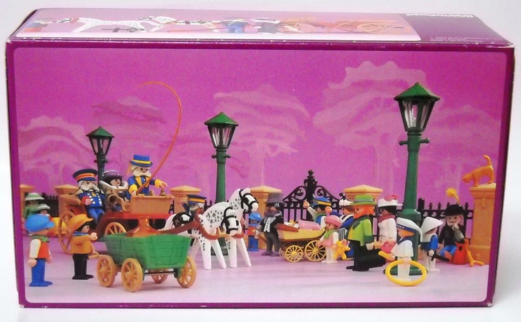 Playmobil 5600 - Horse carriage , Victorian Lady with driver and doorman - Back