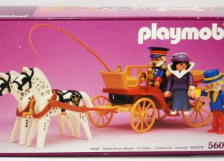 Playmobil - 5600 - Horse carriage , Victorian Lady with driver and doorman
