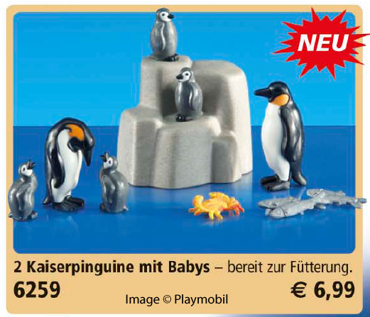 Playmobil 6259 - 2 Emperor Penguins with Babies - Box