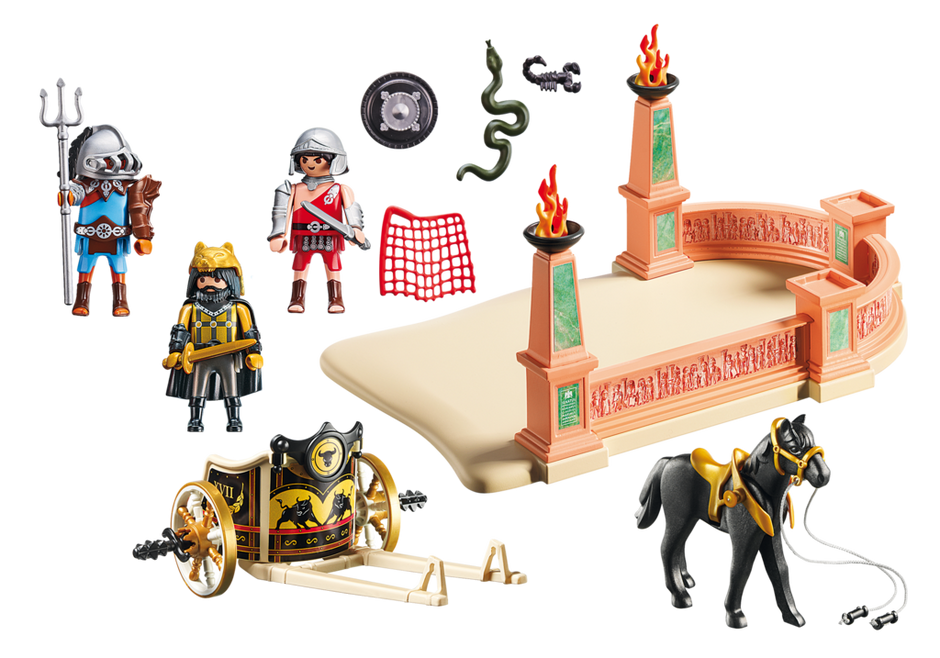 Playmobil 6868 - Gladiators with chariot - Back