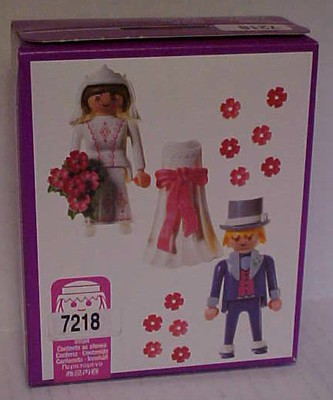 Playmobil 7218 - Victorian Bride and Groom - Back