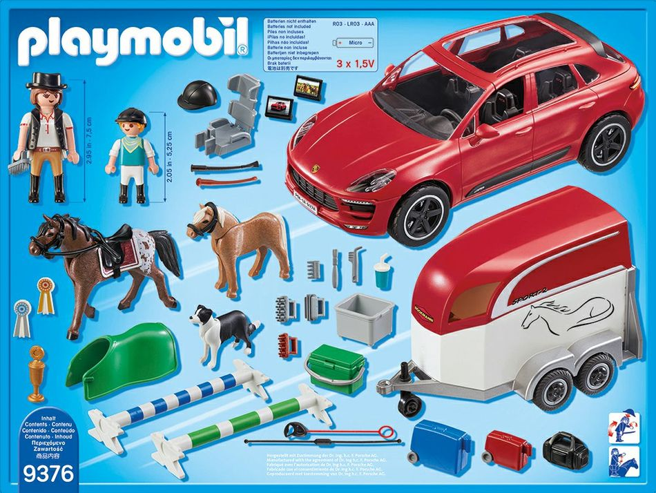 Playmobil set 9376 porsche macan gts klickypedia for Playmobil pferde set