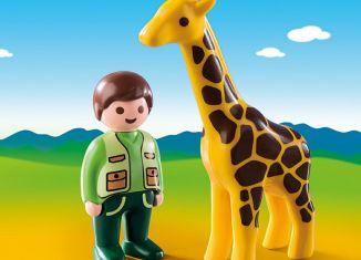 Playmobil - 9380 - Tierpfleger mit Giraffe
