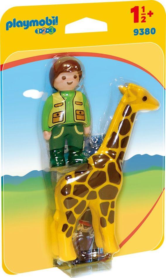 Playmobil 9380 - Tierpfleger mit Giraffe - Box