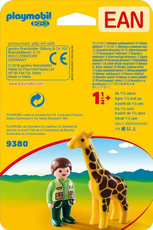Playmobil 9380 - Tierpfleger mit Giraffe - Zurück