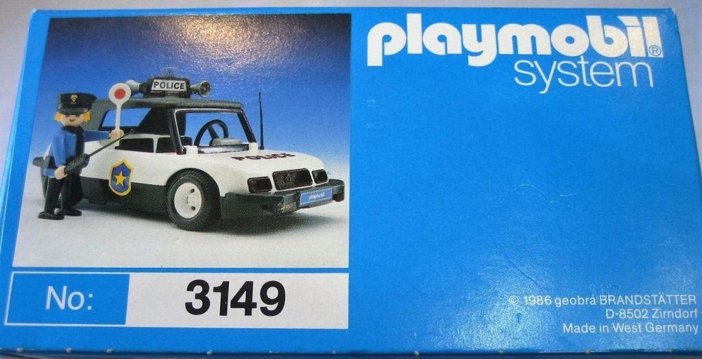 Playmobil 3149v1 - Police car - Box